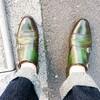 晴れを彩る緑染めの靴でおでかけ(^^)!