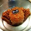 本日の朝食は毛ガニの巻き寿司といなり寿司