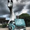 見ようによっては怖い湯田温泉駅の白狐