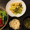 海老と青梗菜の卵とじ定食