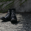 "New Arrival  / ""D.HYGEN"" Horse Leather Lace-Up Combat Boots"