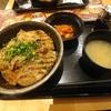 大手町【北海道 マルハ・バル】もち豚カルビ丼 ¥680+とろろ ¥100