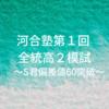 河合塾第1回 全統高2模試結果 S君・偏差値60突破!