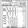 スワロフスキー・ジャパン株式会社 第46期決算公告