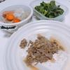 一人暮らしご飯①「肉みそかけ豆腐」