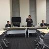 委員会開催と岡本行夫氏の講演