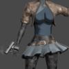 【Blender#55】簡単なスカートの作り方