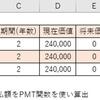 【エクセル】PMT関数の使い方_ローン返済額の算出