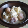 50冊目『一皿でごちそう!わたしの煮込み料理』から6回めは鶏団子のブルーチーズ煮込み