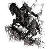 テメェ、馬から下りて闘え
