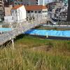 長柄(中津)運河が舗装路工事してる!これでますます自転車で走りやすくなるぜー!【大阪市北区・福島区】