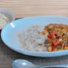 ルーを使わない大豆野菜カレー 342 kcal|新玉のチーズ焼き 161 kcal|365日の献立記録