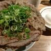 【秋葉原駅近 岡むら屋】の牛しゃぶすきねぎ玉肉めしが美味しい