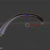 【Blender】Curve(カーブ)に合わせて形状を作成する方法