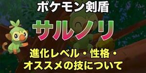 【ポケモン剣盾】サルノリ進化先・性格・技について