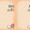 無料配布♪ 読書好きの人のための本棚柄便箋