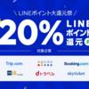 【9月20日~23日】LINEトラベルで20%ポイントバックキャンペーン!dトラベルは15%還元!