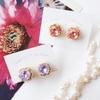 春色の「宝石チョコレート」刺繍ピアス・イヤリングが仕上がりました…!