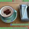 🚩外食日記(580)    宮崎   「asaBAKE&COFFEE(アサベイクコーヒー)」⑨より、【ココア】【ゴルゴンゾーラチーズケーキ】‼️