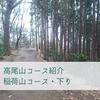 【高尾山】稲荷山コース下り~広く明るい尾根歩き~