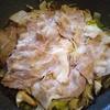 豚バラ肉と白菜ともやしときのこの蒸し焼き