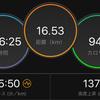 ジョギング16.53km・Eペースジョグで1時間半