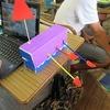 6年生:図工 くるくるクランク 完成へ