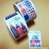 ダイソーの切手型マスキングテープ!