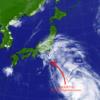 台風12号直撃か?: Typhoon Jongdari coming straight towards us