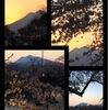 津軽富士と夕焼け