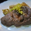 ラムのステーキ、セロリバター風味