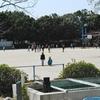 大放課の運動場