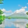 「大沼国定公園」の沼畔から、「きじひき高原」展望台~北海道駒ヶ岳の美しい稜線の眺望をながめる!!