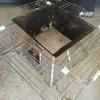 【ファイアテーブル】ニトリのキッチンラックで囲炉裏風