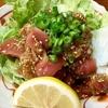 東京 新小岩 魚河岸料理「どんきい」 鮪のピリ辛ユッケ風