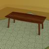 【Blender】机とカーペット