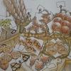 2】クーピーで籐カゴの塗り方紹介☆憧れのお店屋さん(パン屋さん店内続き)より
