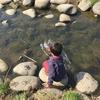 今年初めての川遊び。