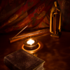 周囲に「聖なる灯火を灯す✨✨✨」「申酉 年・月・日 天中殺の日」<日干支読み>2017年9月7日【丁酉】【天貴星】