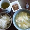 玉ねぎと卵の味噌汁と納豆