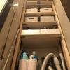 2×4とラブリコで作った収納棚。ダイソーのBOXでフル活用‼︎