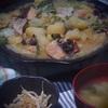 陶板鍋でちゃんちゃん焼き~晩御飯の記録~