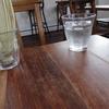 小竹向原の「まちのパーラー」でアイスカフェラテ。
