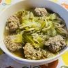 ご飯入り肉団子とキャベツのスープ