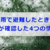 豪雨で避難したときに私が確認した4つの情報(大雨洪水警報・避難勧告が出た時)