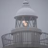 雨と霧の太東埼灯台