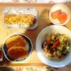 枝豆コロッケ、豚肉野菜、サーモン、玉子焼き