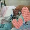 【三女】肺動脈絞扼術後4日目、ちゃんとした泣き顔は初めて見ました。