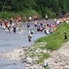 バシャバシャバシャァァァーーー‼︎ 川の中を駆け抜けるマラソン大会『信州爆水RUN』を見てきた