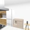 キッチンの間取り(冷蔵庫の位置)